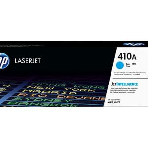 Genuine HP 410A (CF411A) Cyan toner cartridge - 2,300 pages
