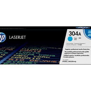 Genuine HP 304A (CC531A) Cyan toner cartridge - 2,800 pages