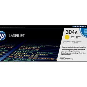 Genuine HP 304A (CC532A) Yellow toner cartridge - 2,800 pages