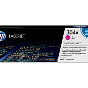 Genuine HP 304A (CC533A) Magenta toner cartridge - 2,800 pages