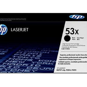 Genuine HP 53X (Q7553X) Black High Yield toner cartridge - 7,000 pages