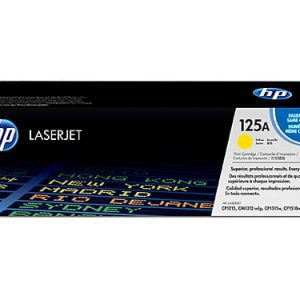 Genuine HP 125A (CB542A) Yellow toner cartridge - 1,400 pages