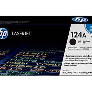 Genuine HP 124A (Q6000A) Black toner cartridge - 2,500 pages
