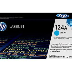 Genuine HP 124A (Q6001A) Cyan toner cartridge - 2,000 pages