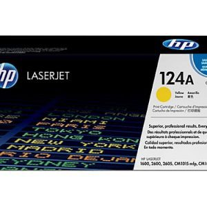 Genuine HP 124A (Q6002A) Yellow toner cartridge - 2,000 pages