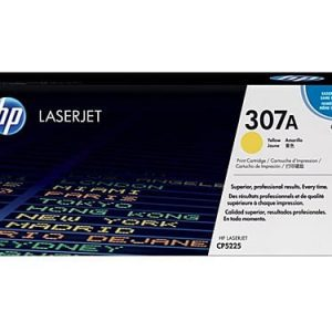 Genuine HP 307A (CE742A) Yellow toner cartridge - 6,000 pages