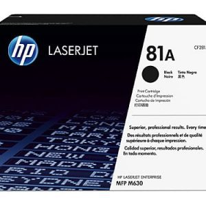 Genuine HP 81A (CF281A) Black toner cartridge - 10,500 pages