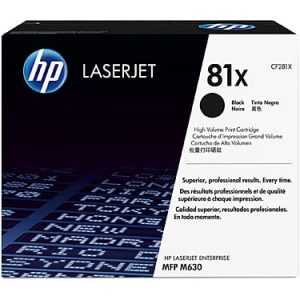 Genuine HP 81X (CF281X) Black toner cartridge - 25,000 pages