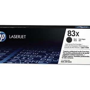 Genuine HP 83X (CF283X) Black High Yield toner cartridge - 2,200 pages