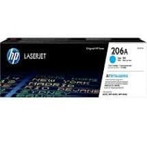 Genuine HP206A (W2111A) Cyan toner cartrtdge - 1,250 pages