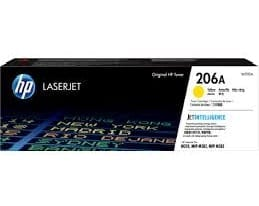 Genuine HP206A (W2112A) Yellow toner cartrtdge - 1,250 pages