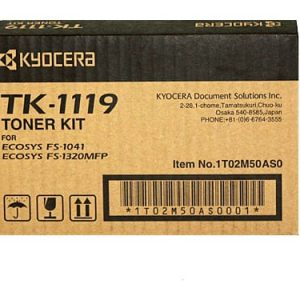 Genuine Kyocera TK-1119 Black toner cartridge - 1,600 pages