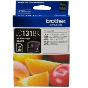 Genuine Brother LC-131 Black ink cartridge - 300 pages