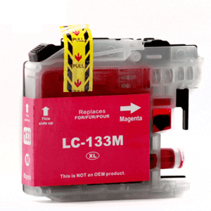 Compatible Brother LC-131/133 Magenta ink cartridge - 800 pages