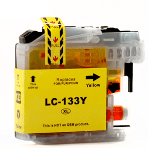 Compatible Brother LC-131/133 Yellow ink cartridge - 800 pages