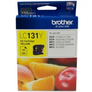 Genuine Brother LC-131 Yellow ink cartridge - 300 pages