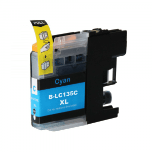 Compatible Brother LC-135XL Cyan High Yield ink cartridge - 1,200 pages