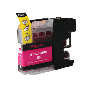 Compatible Brother LC-135XL Magenta High Yield ink cartridge - 1,200 pages