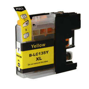 Compatible Brother LC-135XL Yellow High Yield ink cartridge - 1,200 pages