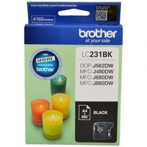 Genuine Brother LC-231 Black ink cartridge - 260 pages