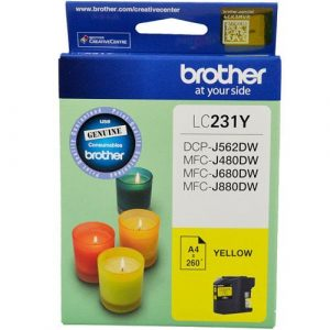 Genuine Brother LC-231 Yellow ink cartridge - 260 pages