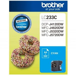 Genuine Brother LC-233 Cyan ink cartridge - 550 pages