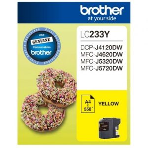 Genuine Brother LC-233 Yellow ink cartridge - 550 pages