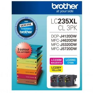 Genuine Brother LC-235XL Value Pack 3pk (CXL,MXL,YXL) ink cartridge - 550 pages each