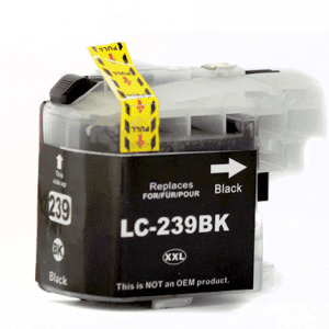 Compatible Brother LC-239XL Black High Yield ink cartridge - 2,400 pages