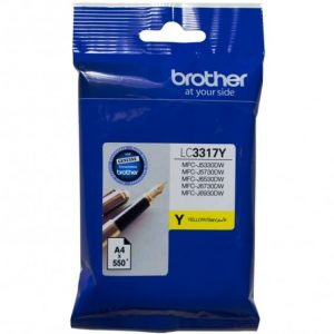 Genuine Brother LC-3317 Yellow ink cartridge - 550 pages