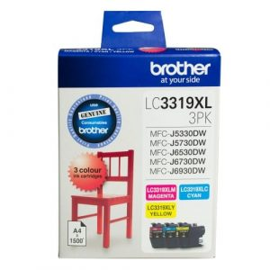 Genuine Brother LC-3319XL Value Pack 3pk (C,M,Y) ink cartridge - 1500 pages each