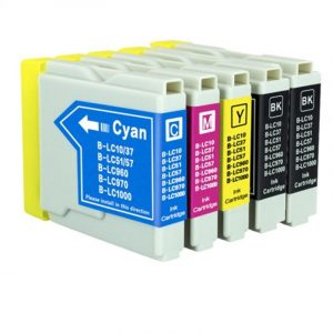Compatible Brother LC-37/LC-57 Value Pack 5pk (Bx2,C,M,Y) ink cartridge - see singles for yield
