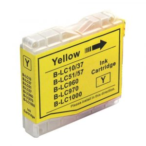 Compatible Brother LC-37/LC-57 Yellow ink cartridge - 450 pages