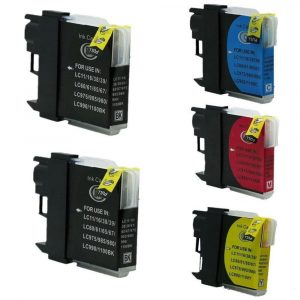 Compatible Brother LC-38/LC-67 Value Pack 5pk (Bx2,C,M,Y) ink cartridge - see singles for yield
