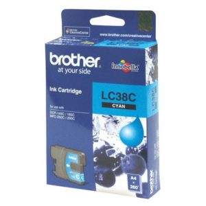 Genuine Brother LC-38 Cyan ink cartridge - 260 pages