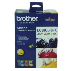 Genuine Brother LC-39 Value Pack 3pk (C,M,Y) ink cartridge - 260 pages each