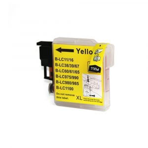 Compatible Brother LC-38/LC-67 Yellow ink cartridge - 1200 pages