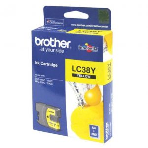 Genuine Brother LC-38 Yellow ink cartridge - 260 pages