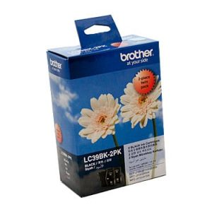 Genuine Brother LC-39 Black ink cartridge 2pk - 300 pages each
