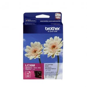 Genuine Brother LC-39 Magenta ink cartridge - 260 pages each