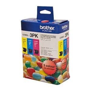 Genuine Brother LC-40CL3PK Value Pack 3pk (C,M,Y) ink cartridge - 300 pages each