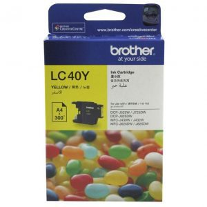 Genuine Brother LC-40 Yellow ink cartridge - 300 pages