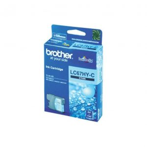 Genuine Brother LC-67HY Cyan ink cartridge - 750 pages