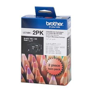 Genuine Brother LC-73 Black ink cartridge 2pk - 600 each