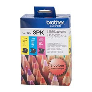 Genuine Brother LC-73 Value Pack 3pk (C,M,Y) ink cartridge - 600 pages