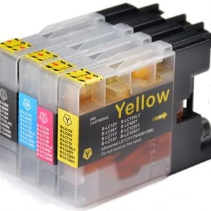 Compatible Brother LC-77 Value Pack 4pk (B,C,M,Y) ink cartridge - see singles for yield