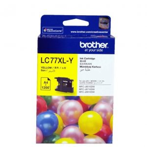 Genuine Brother LC-77XL Yellow ink cartridge - 1200 pages