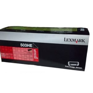 Genuine Lexmark 50F3H0E (503H) Black High Yield toner cartridge - 5,000 pages