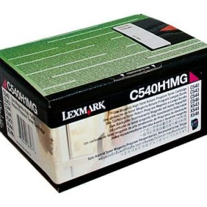 Genuine Lexmark C540H1MG (C540) Magenta High Yield toner cartridge - 2,000 pages