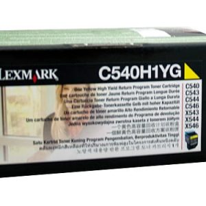 Genuine Lexmark C540H1YG (C540) Yellow High Yield toner cartridge - 2,000 pages
